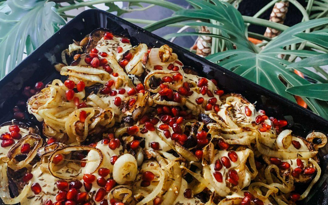 Geroosterde aubergines van Yotam Ottolenghi